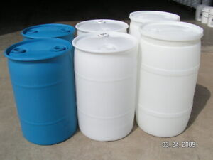 Seal top plastic barrel/drum with two bung hold 55 gallon