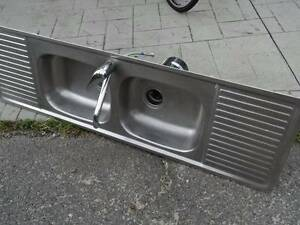 Double Stainless Steel sink with insinkerator and mixer Highland Park Gold Coast City Preview
