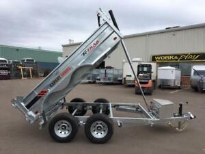 NEW 2018 K-TRAIL 6' x 10' GALVANIZED DUMP TRAILER