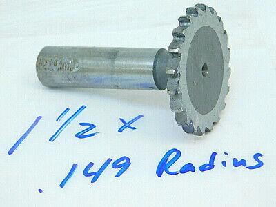 Used Hss Straight Tooth Woodruff Keyseat Cutter 1-12 X .149 Radius