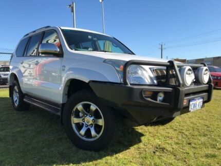 2007 Toyota Landcruiser Prado KDJ120R VX White 5 Speed Automatic Wagon