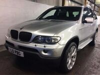 BMW X5 3.0 D SPORT DIESEL AUTOMATIC SILVER FACELIFT MODEL NEWER SHAPE 4X4 SILVER TOP SPEC N X3 VOUGE