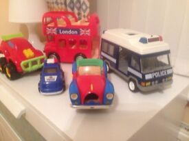 Assorted vehicles as seen