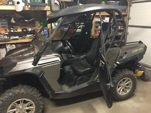 2013 Can Am Commander 800 w/Roof; 1/2 WShield; Snow Blade; Door Regina Regina Area image 1