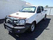 2011 Toyota Hilux KUN16R MY11 Upgrade SR White 5 Speed Manual Dual Cab Pick-up Nowra Nowra-Bomaderry Preview