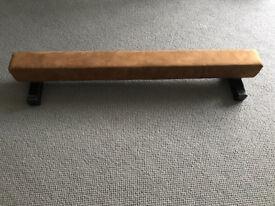 Balance Beam - 1.2 m Suede Gymnastics Low Profile Balance Beam