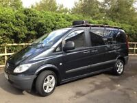 Professionally converted Mercedes Vito camper van in good condition plus extra camping equipment