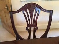 EIGHT DINING CHAIRS TO MATCH TABLE AND SIDEBOARD ALREADY LISTED. £12.50 PER CHAIR