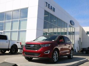 2018 Ford Edge SPORT, 400A, SYNC3, NAV, REAR CAMERA, PANORAMIC R