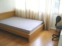 Double room in friendly houseshare available for single person (bills included).