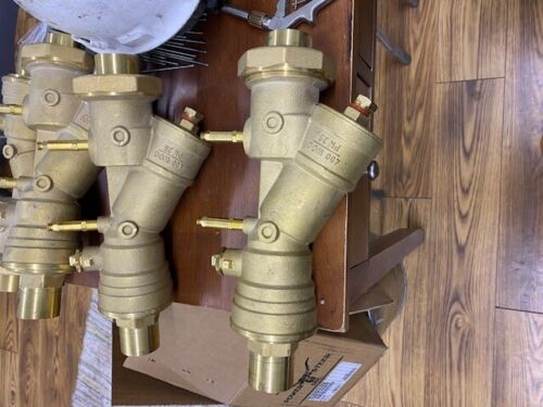 1 1/2 Brass sweat strainer with isolation ball valve and diff pressure ports