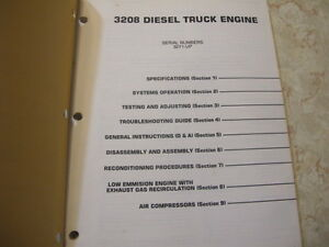 Caterpillar 3208 Diesel Truck Engine Service Manual Regina Regina Area image 2