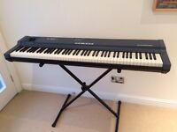 Practically unused midi keyboard with stand, software & midi interface