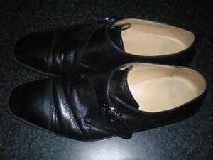 $850 BALLY Single monk strap Black dress shoes