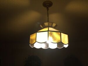 STAINED  GLASS   TIFFANY  STYLE  CEILING   LAMP