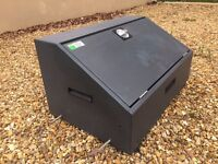 Bott steel security locked box with key ideal for vans sheds tools etc