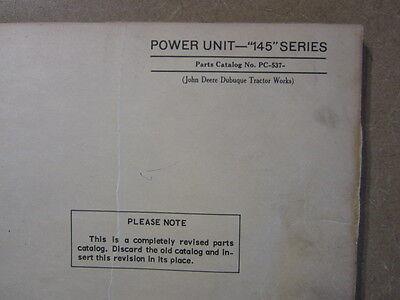 John Deere 145 Engine Power Units Parts Manual