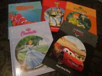 DISNEY FAVOURITES 5 HARD BACKED READ-A-LONG STORIES BOOKS (With AUDIO CD) AS NEW