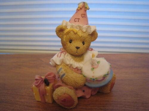 "PRISCILLA HILLMAN CHERISHED TEDDIES 1ST GIRL BIRTHDAY ""MAY YOUR WISHES COME TRUE"
