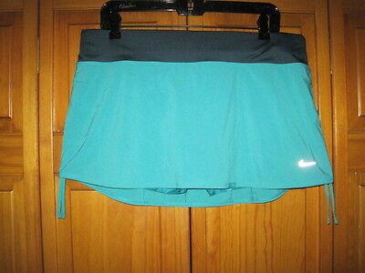 Nike Dri-Fit skort women's L green running exercise gym fitness NWOT NEW