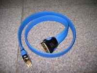 QED Performance P2110 1 metre SCART Lead