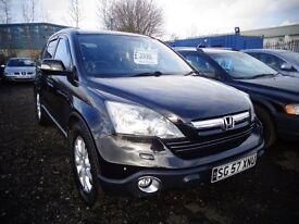 2007 (57) Honda CR-V Executive 2.2 Diesel Manual Black £3895