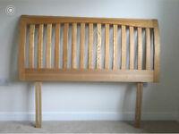 4'6 wooden ladder back headboard