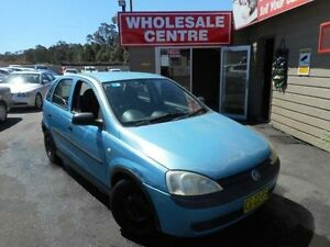 2002 Holden Barina XC Equipe Blue 5 Speed Manual Hatchback Edgeworth Lake Macquarie Area Preview