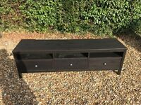 IKEA HEMNES TV Stand - Black/Brown - Excellent condition - Good as new!