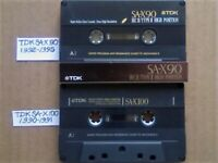 £14 &FP&P TDK SA-X 90 / 100 CHROME CASSETTE TAPES W/ CARDS CASES LABELS GUARANTEED GOODS