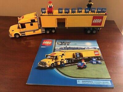 LEGO City Truck 3221, Tractor Trailer, Yellow Semi- Retired- w/ Lego Cargo boxes