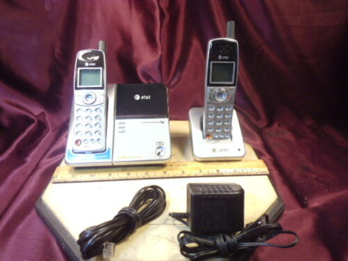 AT&T E5902B 2 Handset Cordless Phone System 5.8 ghz-voicemail-Free Ship