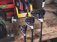 Taylormade m1 driver, 3 wood and 3 hybrid