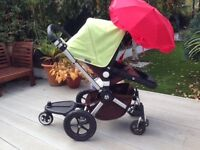 **reduced price** Bugaboo Cameleon 2 + car seat, buggy board, sun shade