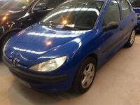 2000 PEUGEOT 206 1.4 PETROL MANUAL 5 DOOR HATCHBACK BLUE MOT STARTS AND DRIVES NOT CORSA ASTRA CLIO