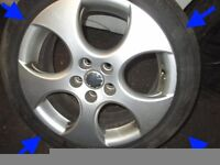 POLO GTI BBS 9n3 GENUINE 16inch alloy wheels set of 4 excellent condition