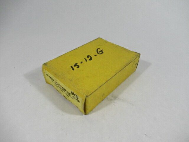 Hubbell 20416 Cast Metal Plate With Lift Cover For F.S Or F.D Box NEW