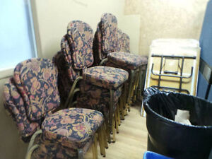 Bulk Lot*Reception Chairs*Folding Chairs*Folding Tables for Sale