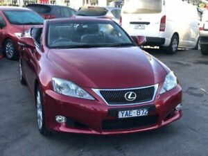2010 Lexus IS250C GSE20R Prestige Red 6 Speed Automatic Convertible Burwood Whitehorse Area Preview