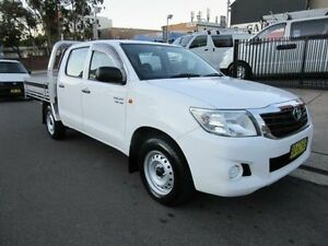 2012 Toyota Hilux GGN15R MY12 SR White 5 Speed Automatic 4D UTILITY Croydon Burwood Area Preview