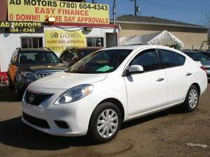 2014 NISSAN VERSA AUTO LOADED SHARP 51K-100% APPROVED FINANCING