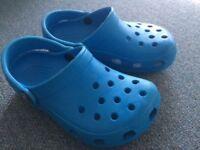 Kids Blue Crocs 8-9