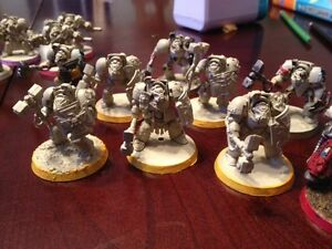 55 Deathwing terminators for sale or trade. $400 warhammer