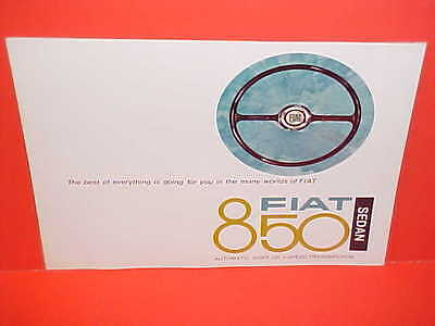 1968 Fiat 850 - 1968 FIAT 850 SEDAN SHOWROOM SALES BROCHURE CATALOG 68