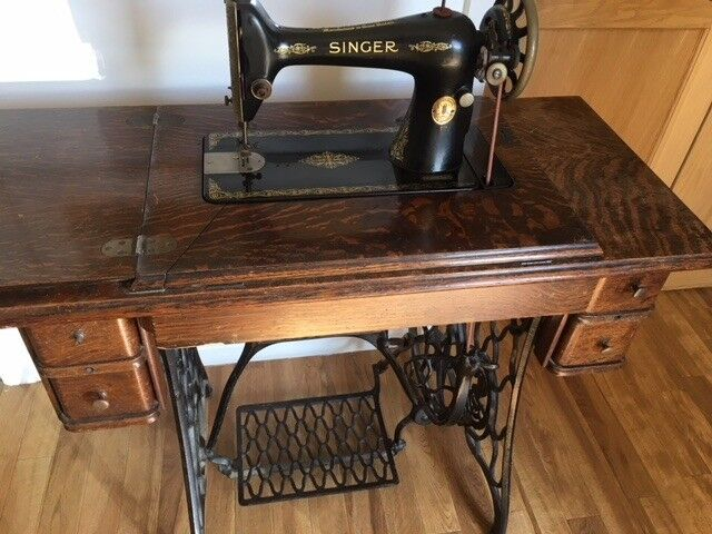Vintage Singer Sewing Machine In Table In Wood Cabinet Table Treadle Unique Singer Sewing Machine 1950 In Cabinet