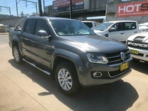 2016 Volkswagen Amarok 2H MY16 TDI400 4Mot Highline Grey 6 Speed Manual Utility Granville Parramatta Area Preview
