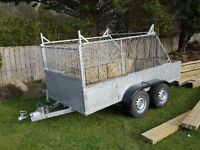 Large trailer Double axel and cage