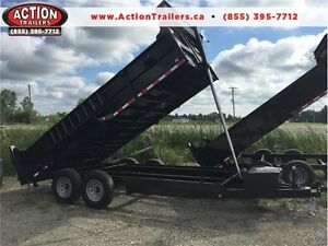 GET THE LARGEST 7 TON DUMP TRAILER 7 X 16'  & PAY $190 MONTHLY London Ontario image 1