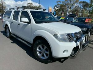 2013 Nissan Navara D40 S6 MY12 ST White 5 Speed Sports Automatic Utility East Bunbury Bunbury Area Preview