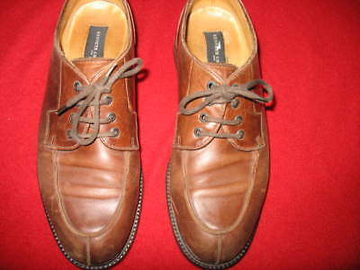 KENNETH COLE, MEN'S SHOE SIZE10.5, OXFORD, LACEUP, WOOD/LEATHER HEEL, COLOR LIGH Kenneth Cole Oxford Heels
